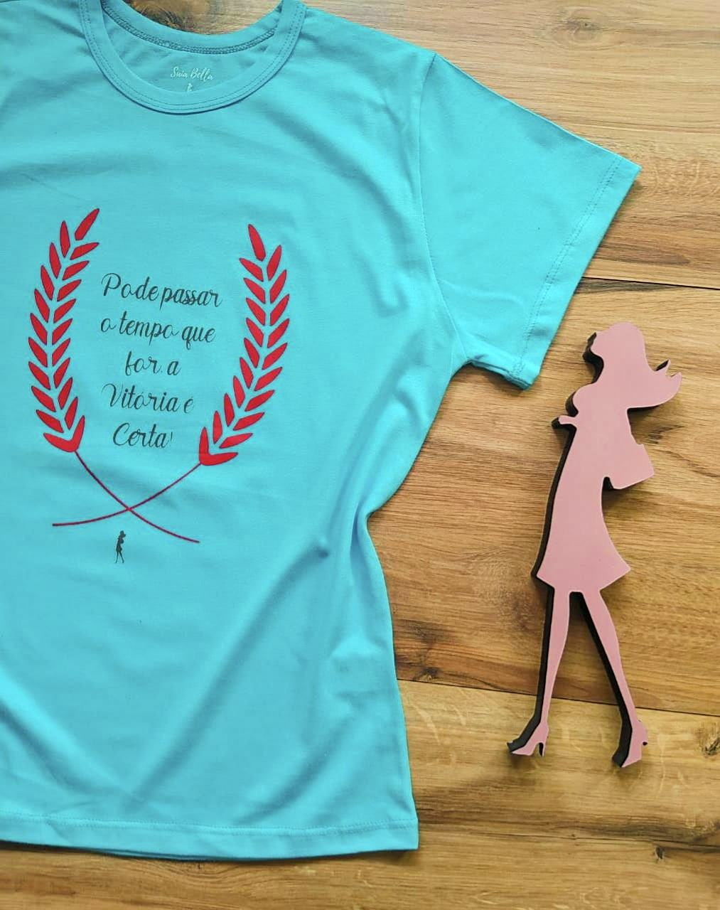 T-shirt Vitória Saia Bella SB79002 Azul