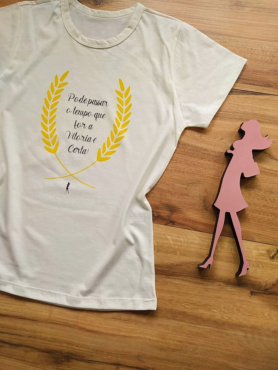 T-shirt Vitória Saia Bella SB79002 Pérola