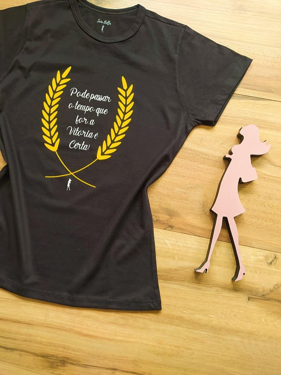 T-shirt Vitória Saia Bella SB79002 Preto