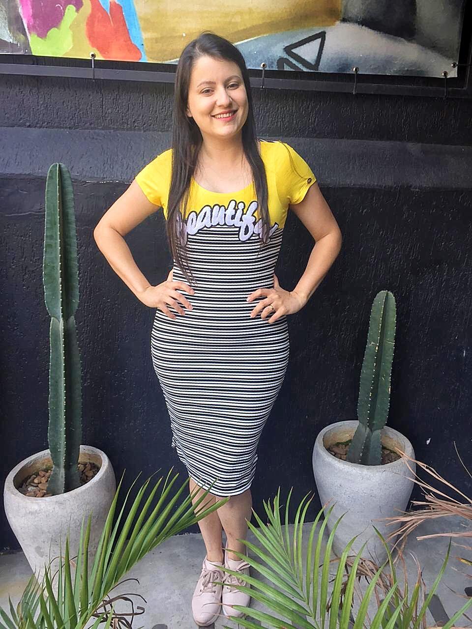 Vestido Agata Amarelo SBL1812