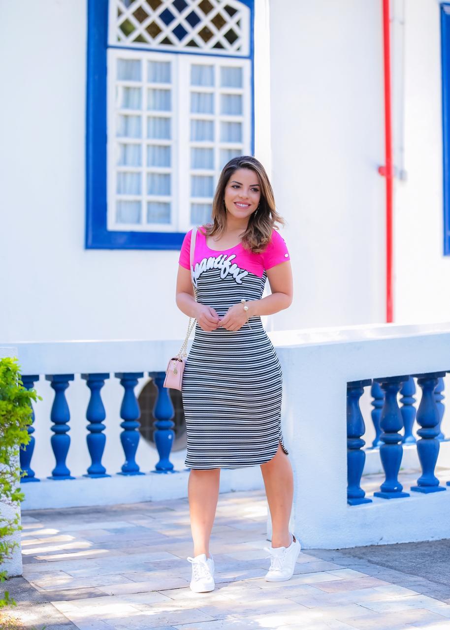 Vestido Agata Rosa SBL1812