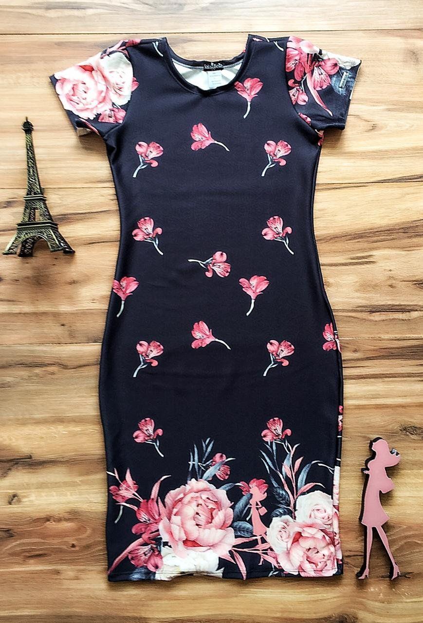 Vestido Barrado Flora Saia Bella SBE018