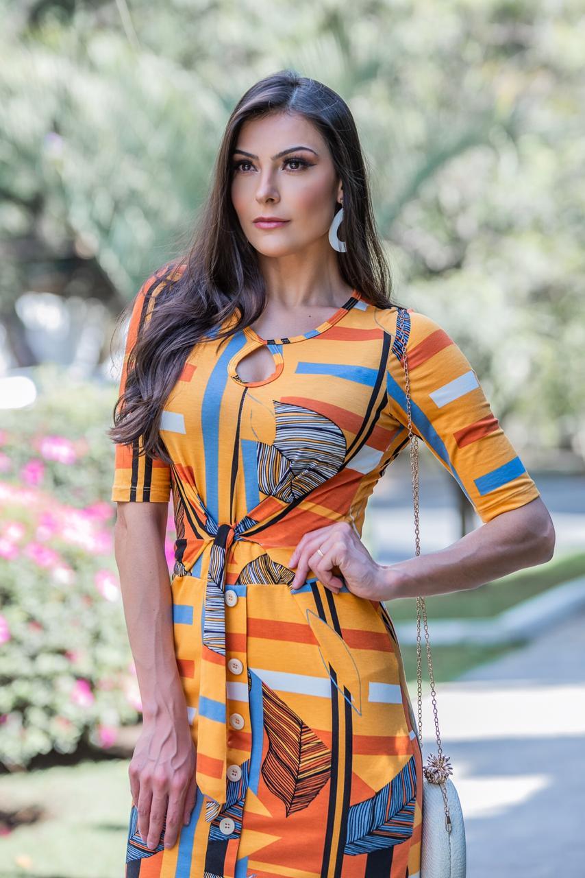Vestido Berenice Laranja SBL1803A