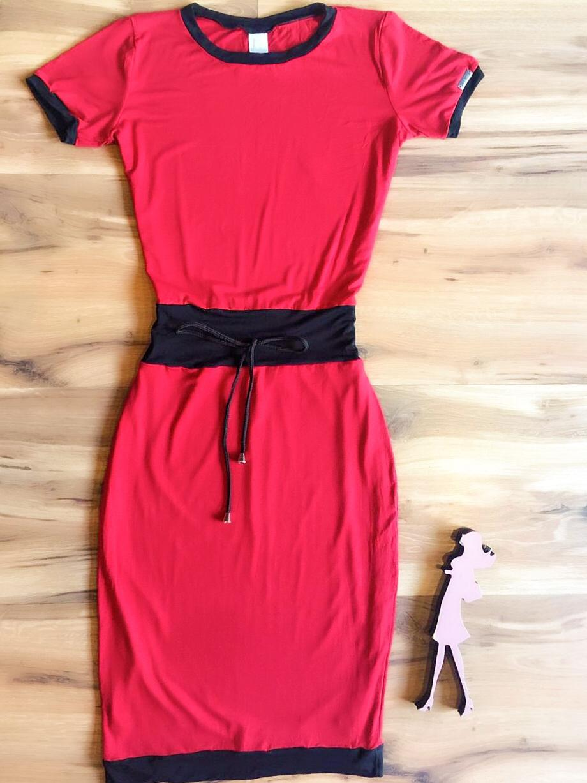 Vestido Casual Saia Bella SB3864 Vermelho
