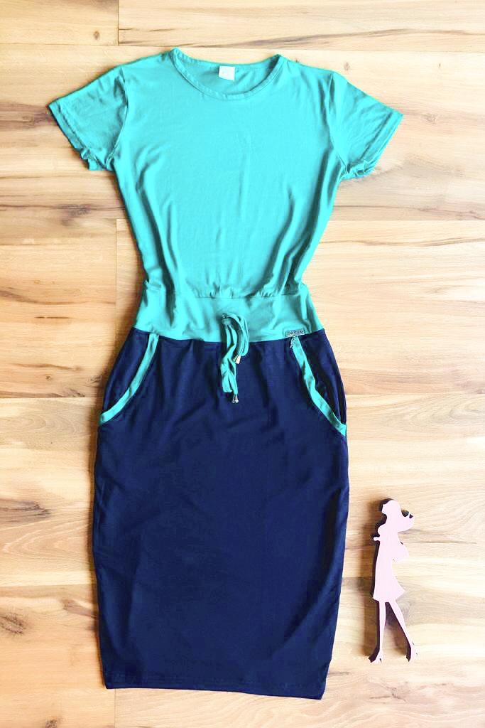 Vestido Casual Saia Bella SB3867 Azul