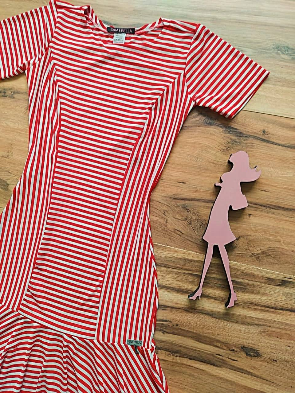 Vestido Cindy Peplum Saia Bella SB3957 Vermelho