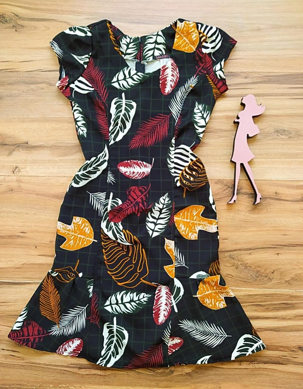 Vestido Crepe Coren  Saia Bella SB5120 - A