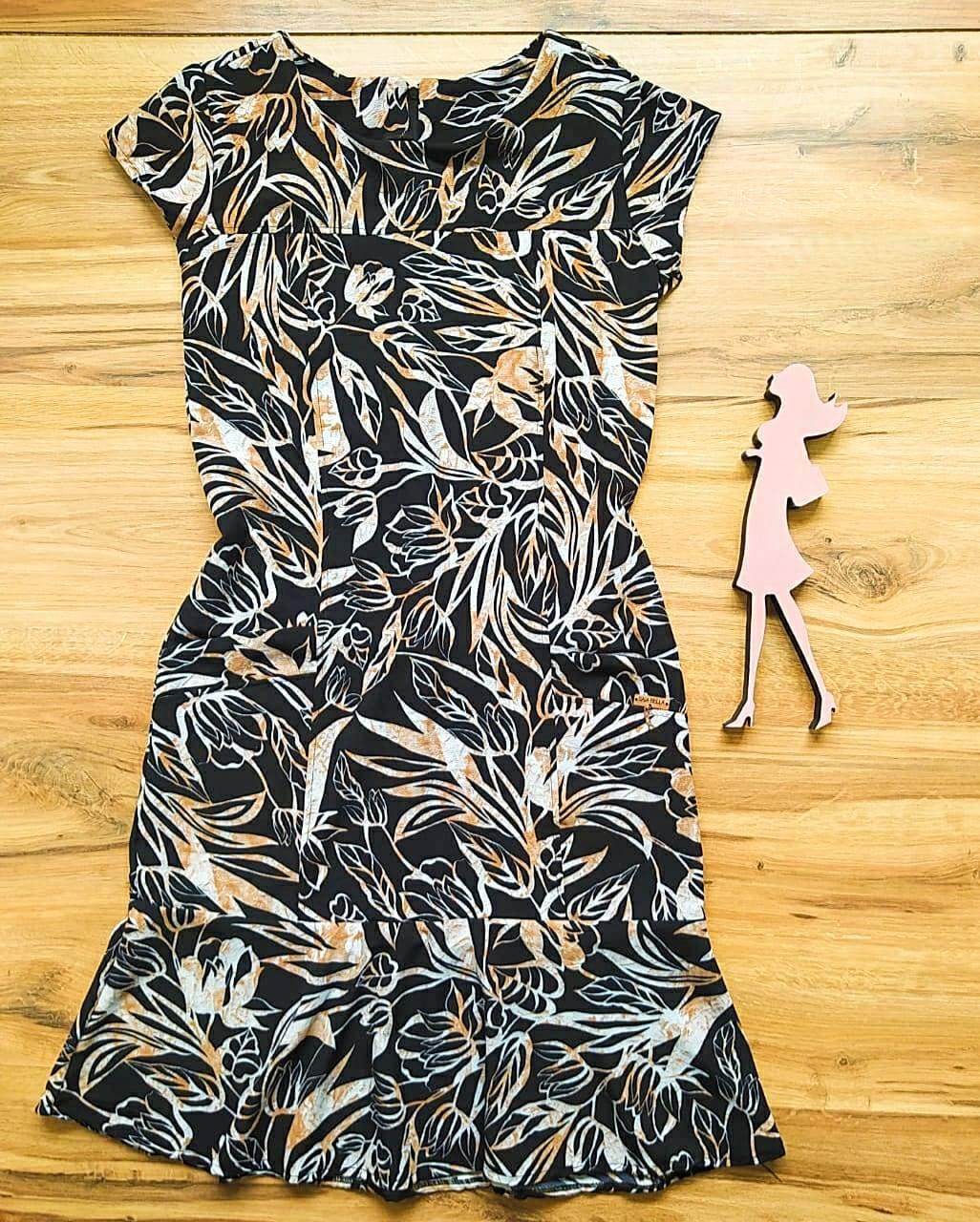 Vestido Crepe Coren  Saia Bella SB5120 - E