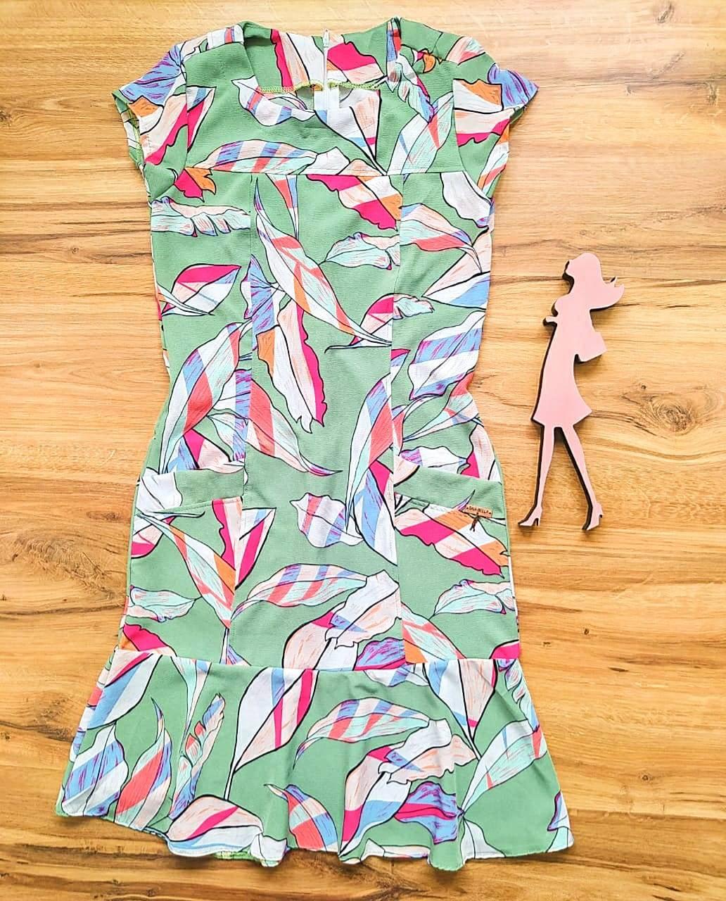 Vestido Crepe Coren  Saia Bella SB5120 - F