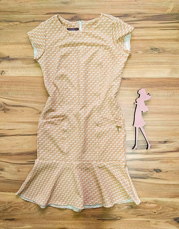 Vestido Crepe Coren  Saia Bella SB5120 - I
