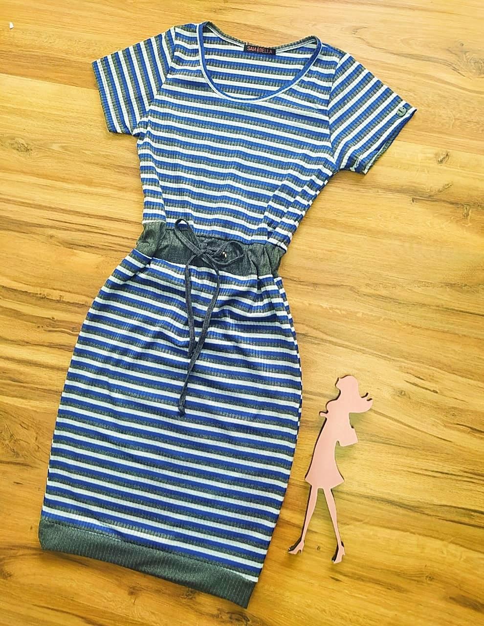 Vestido Rafaella Saia Bella - SB504102_Azul