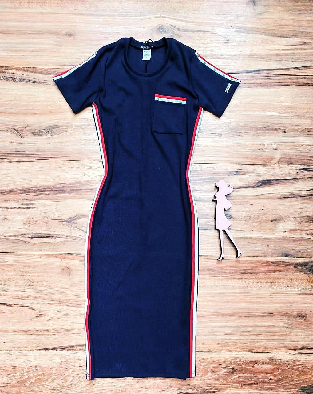 Vestido Duda  SB3870 Azul Marinho