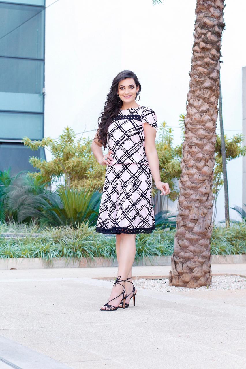 Vestido Elástico Julieta Rosa SBL1825