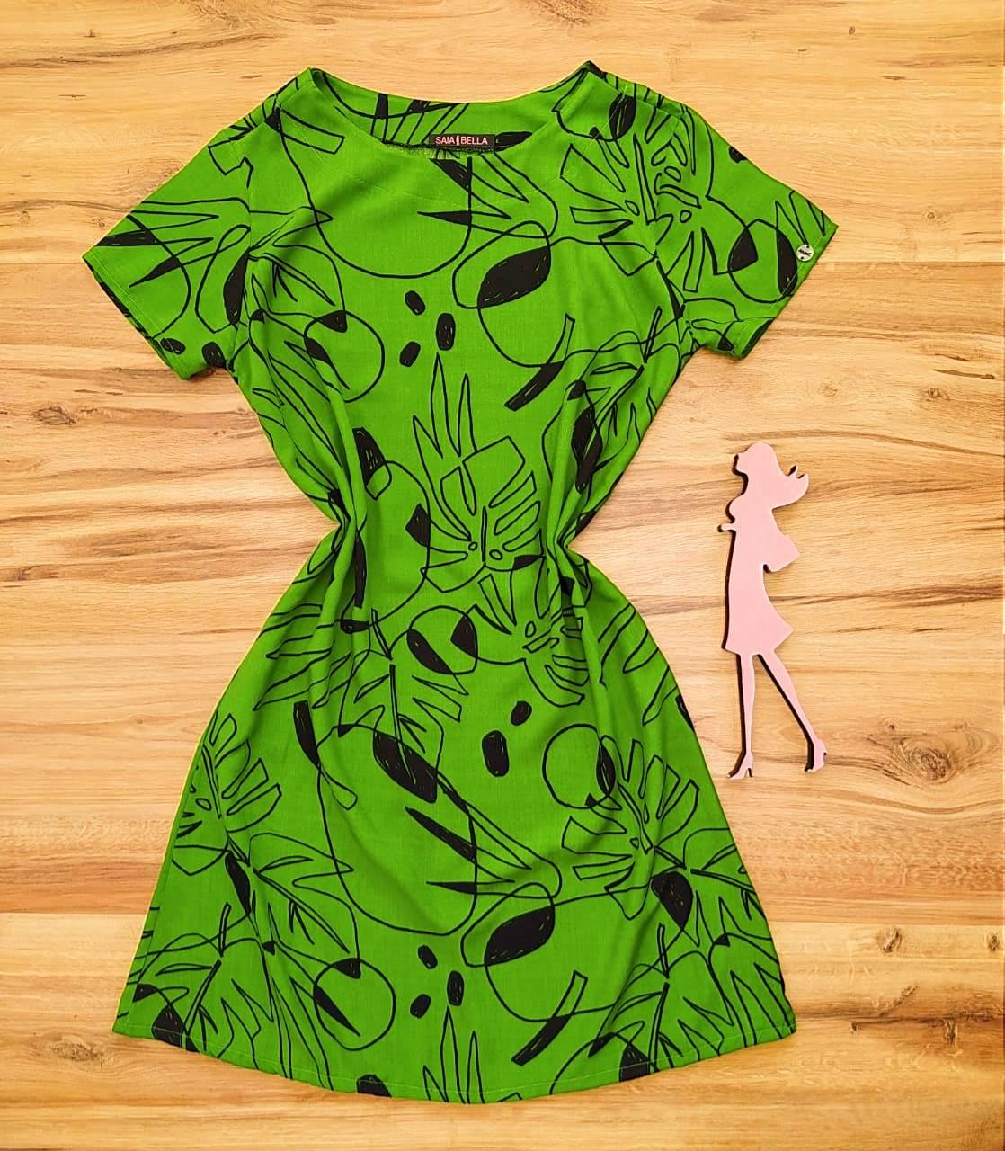 Vestido Evasê Mila Saia Bella SB60002 - 1