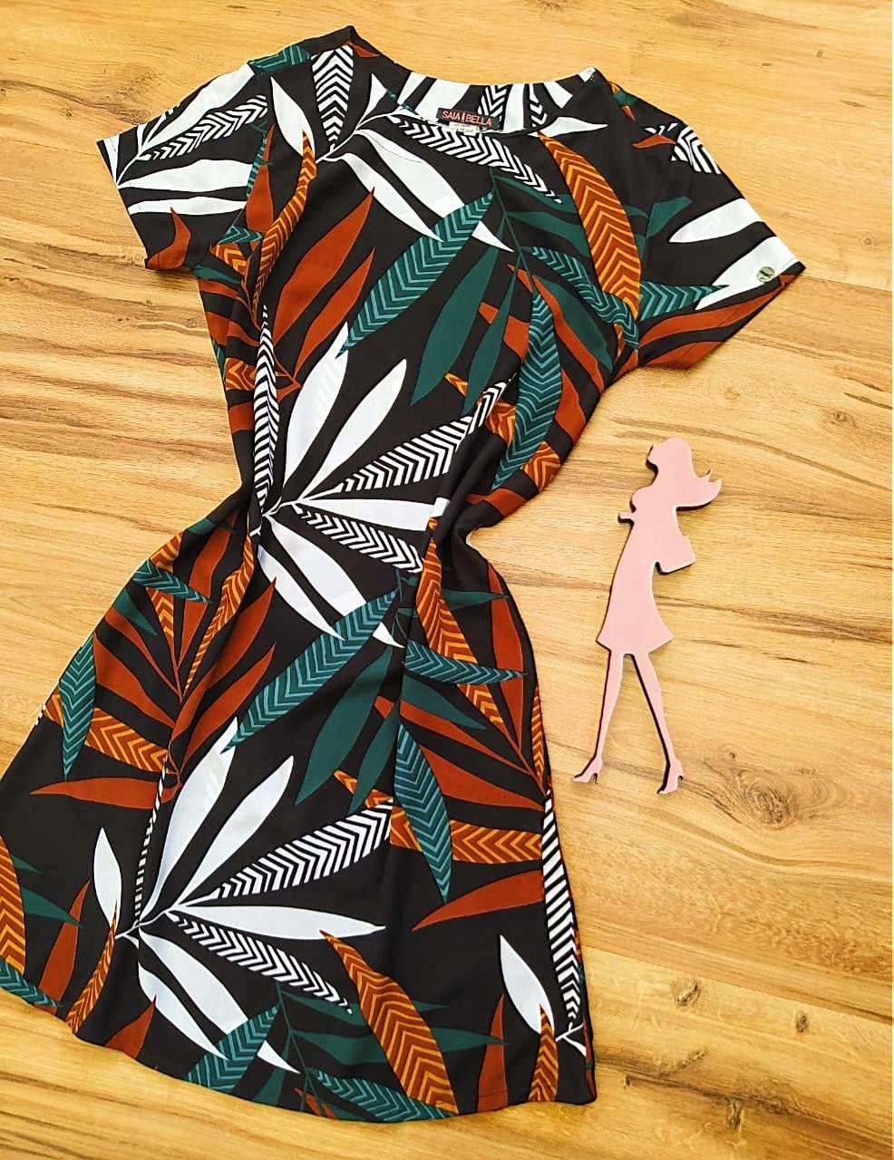 Vestido Evasê Mila Saia Bella SB60002 - 2