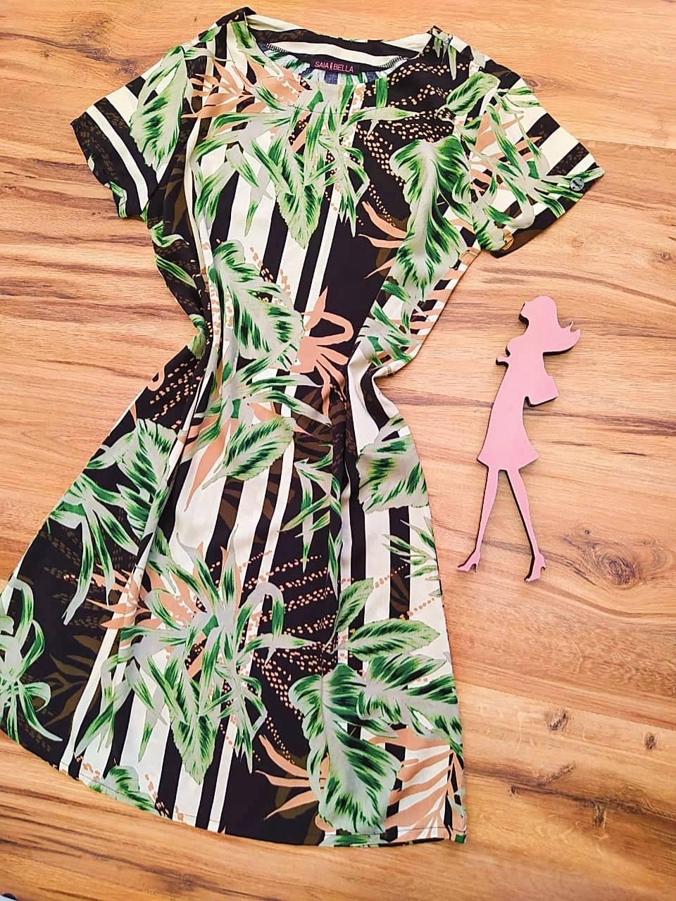 Vestido Evasê Mila Saia Bella SB60002 - 3