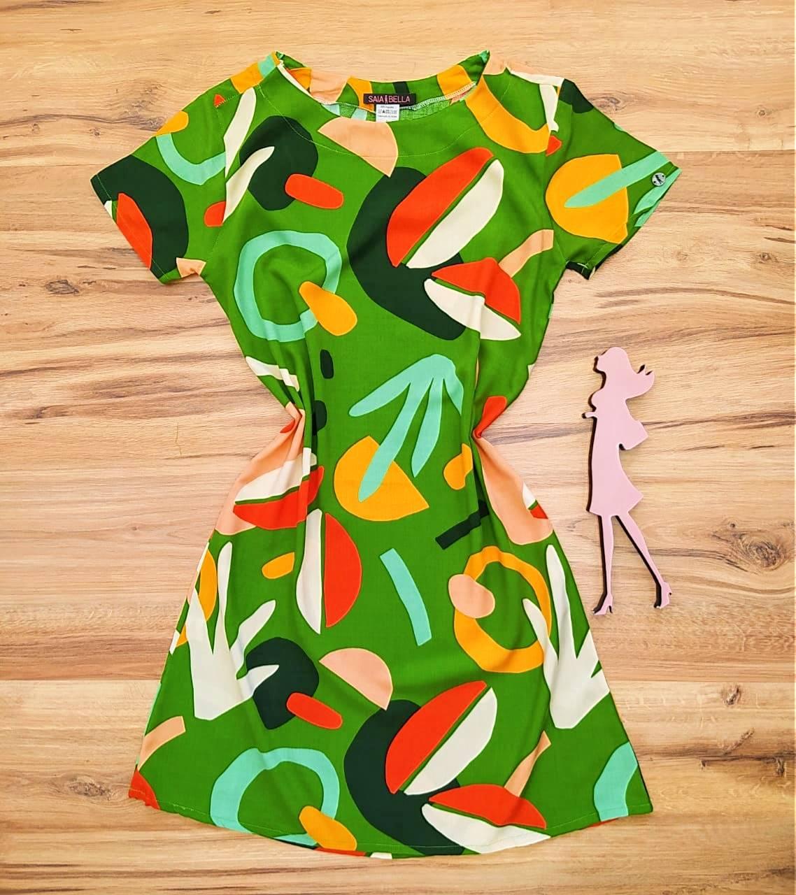 Vestido Evasê Mila Saia Bella SB60002 - 5