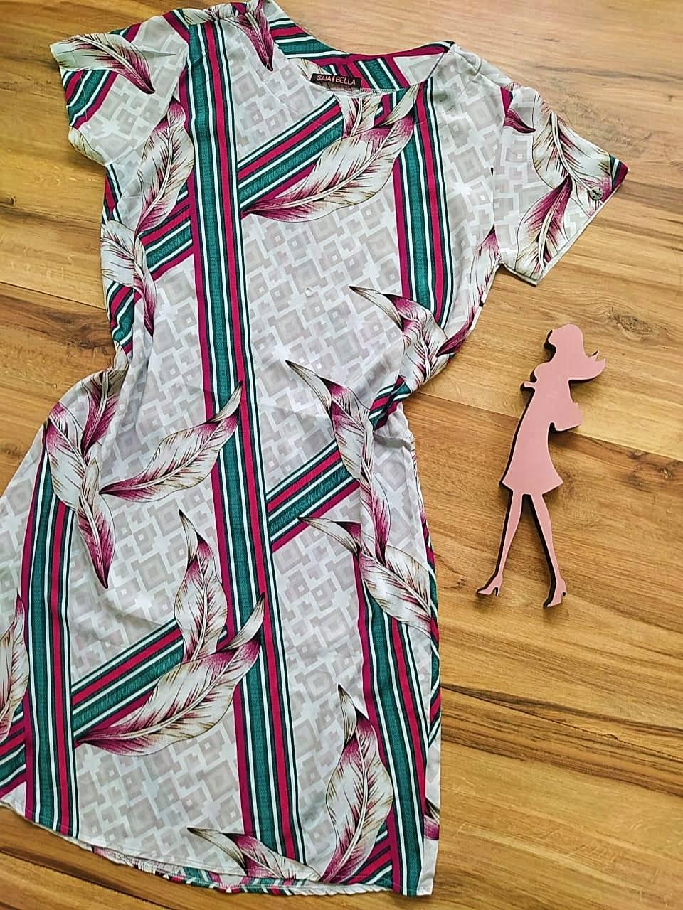 Vestido Evasê Mila Saia Bella SB60002 - C