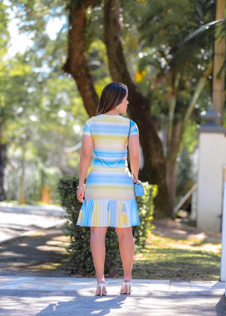 Vestido Felipa Azul SBL1817A