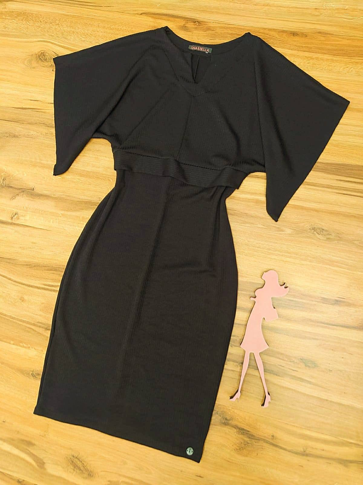 Vestido Florix Saia Bella - SB71008992_Preto