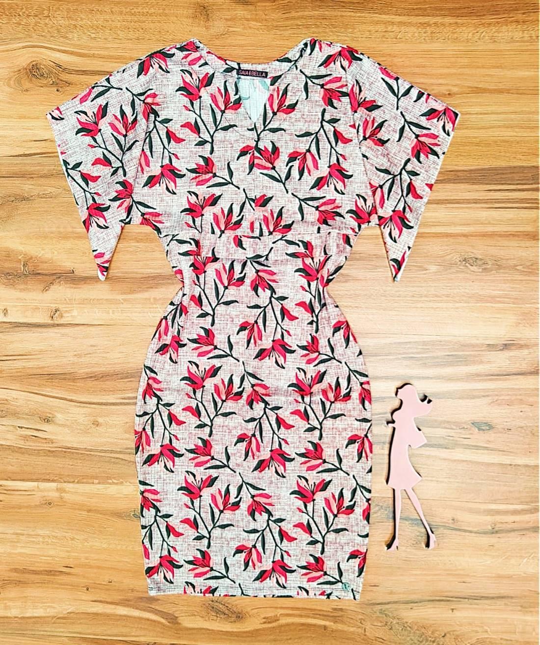 Vestido Florix Saia Bella - SB71008992_Vermelho