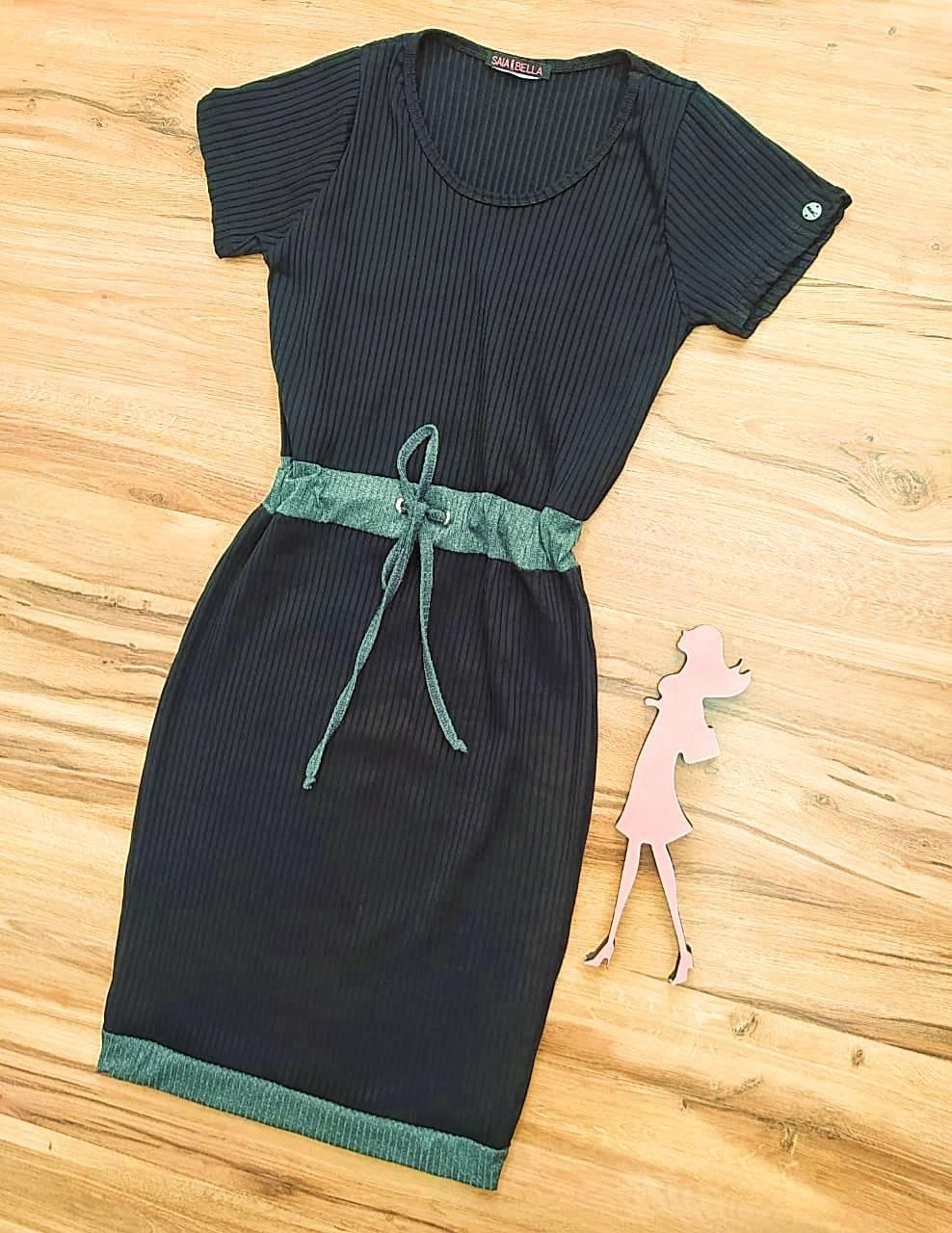 Vestido Gabriely Saia Bella - SB7100872_Preto