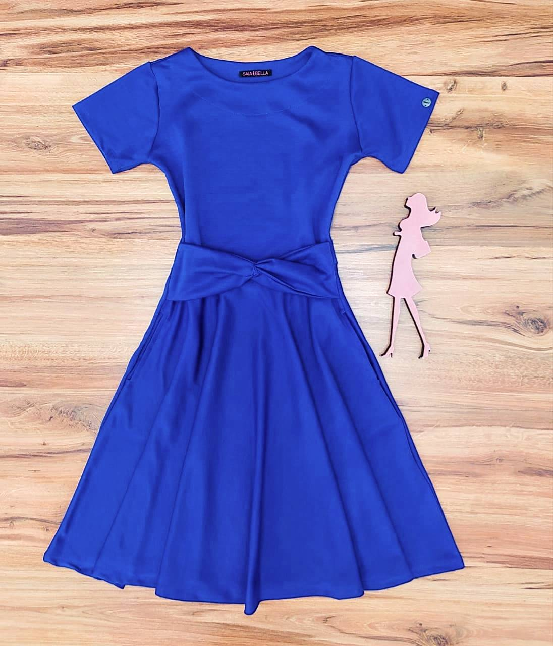 Vestido Godê Nice Saia Bella  SRB897703 Azul Royal