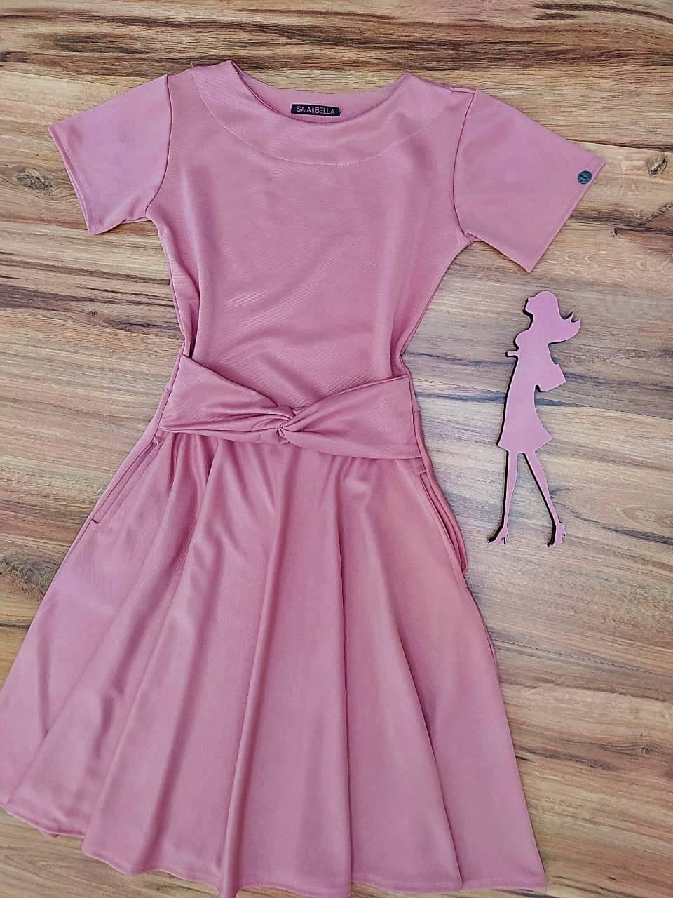 Vestido Godê Nice Saia Bella  SRB897703 Rosa