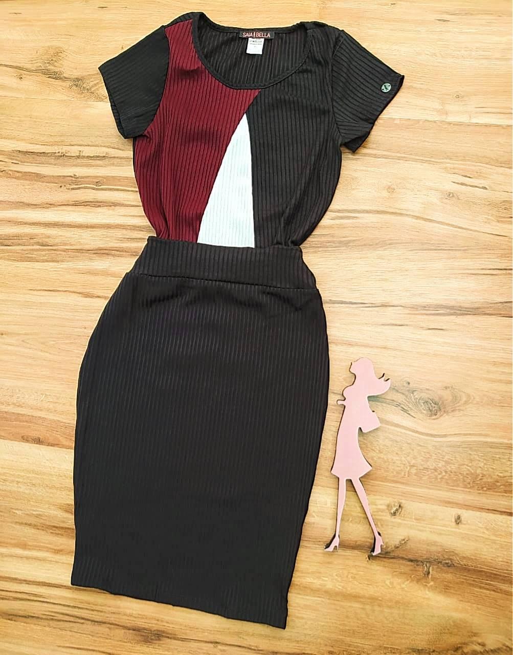 Vestido Hanna Saia Bella - SB700099_marsala