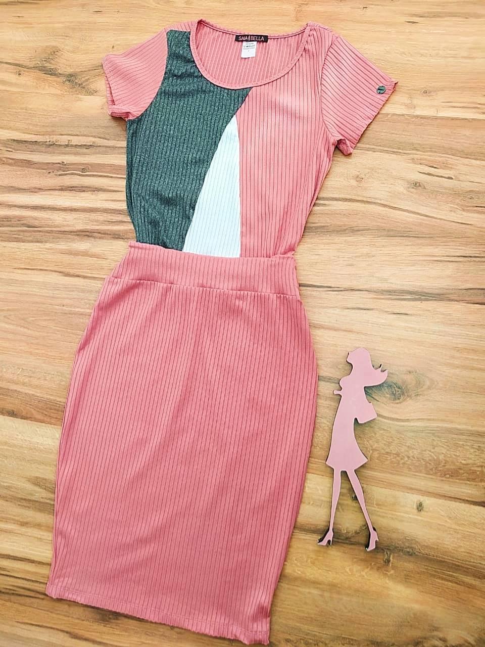 Vestido Hanna Saia Bella - SB700099_rosê