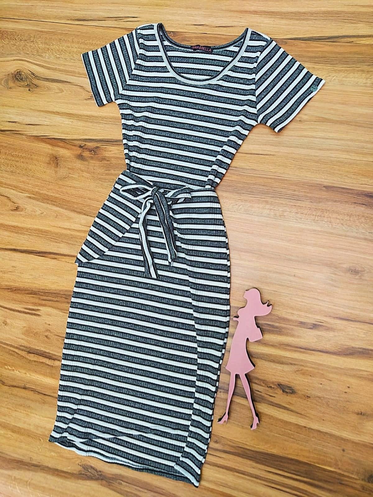 Vestido Isadora Saia Bella - SB504100_cinza