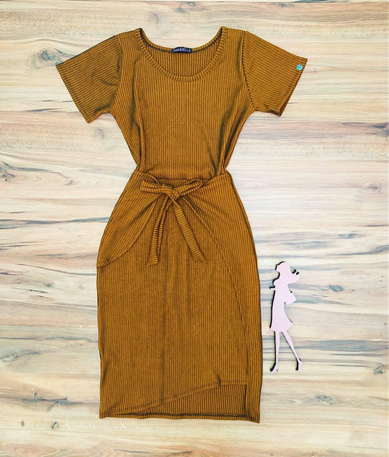 Vestido Isadora Saia Bella - SB504100_mostarda