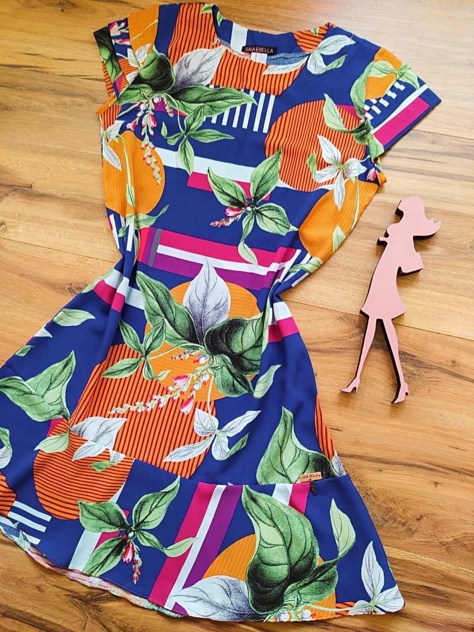 Vestido Jasmine Saia Bella SB4480 - A