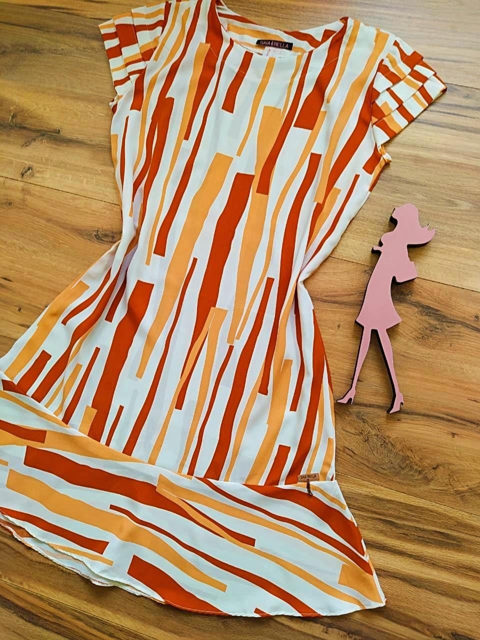 Vestido Jasmine Saia Bella SB4480 - E