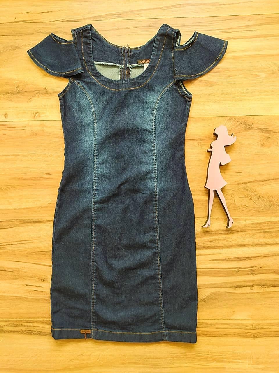 Vestido Jeans Angélica Saia Bella SB75101
