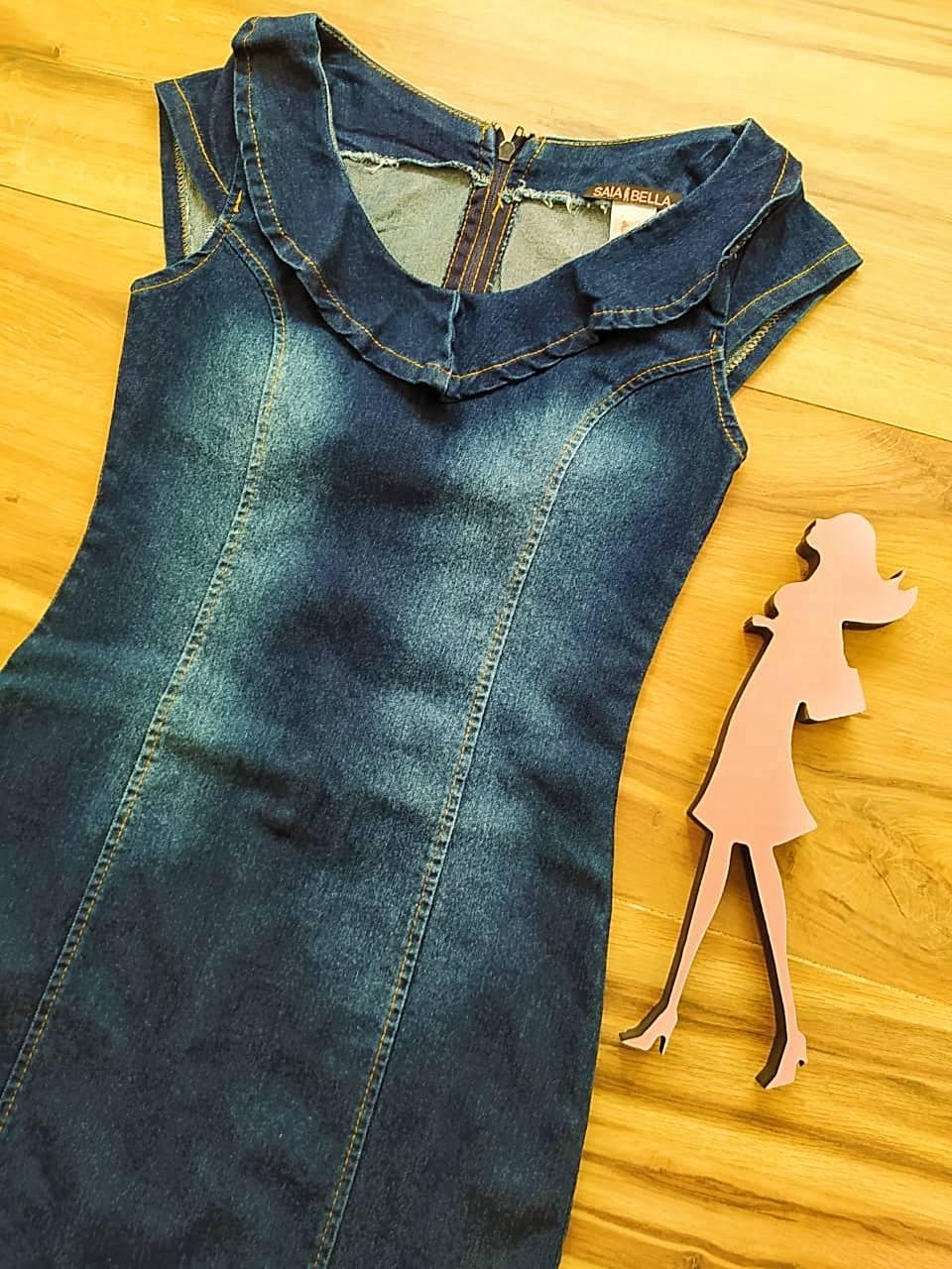 Vestido Jeans Anitta Saia Bella SB75100