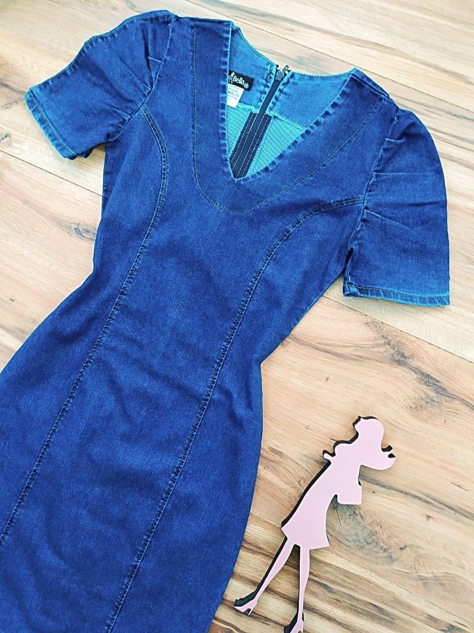 Vestido Jeans Atlanta Saia Bella SB5605