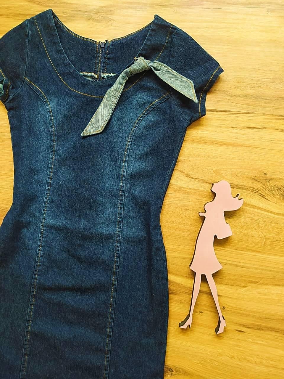 Vestido Jeans Carla  Saia Bella SB20114