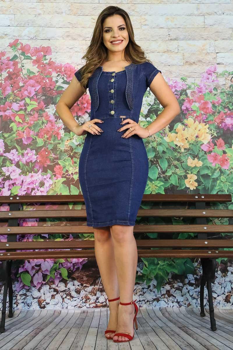 Vestido Jeans Carla Saia Bella - SB5612
