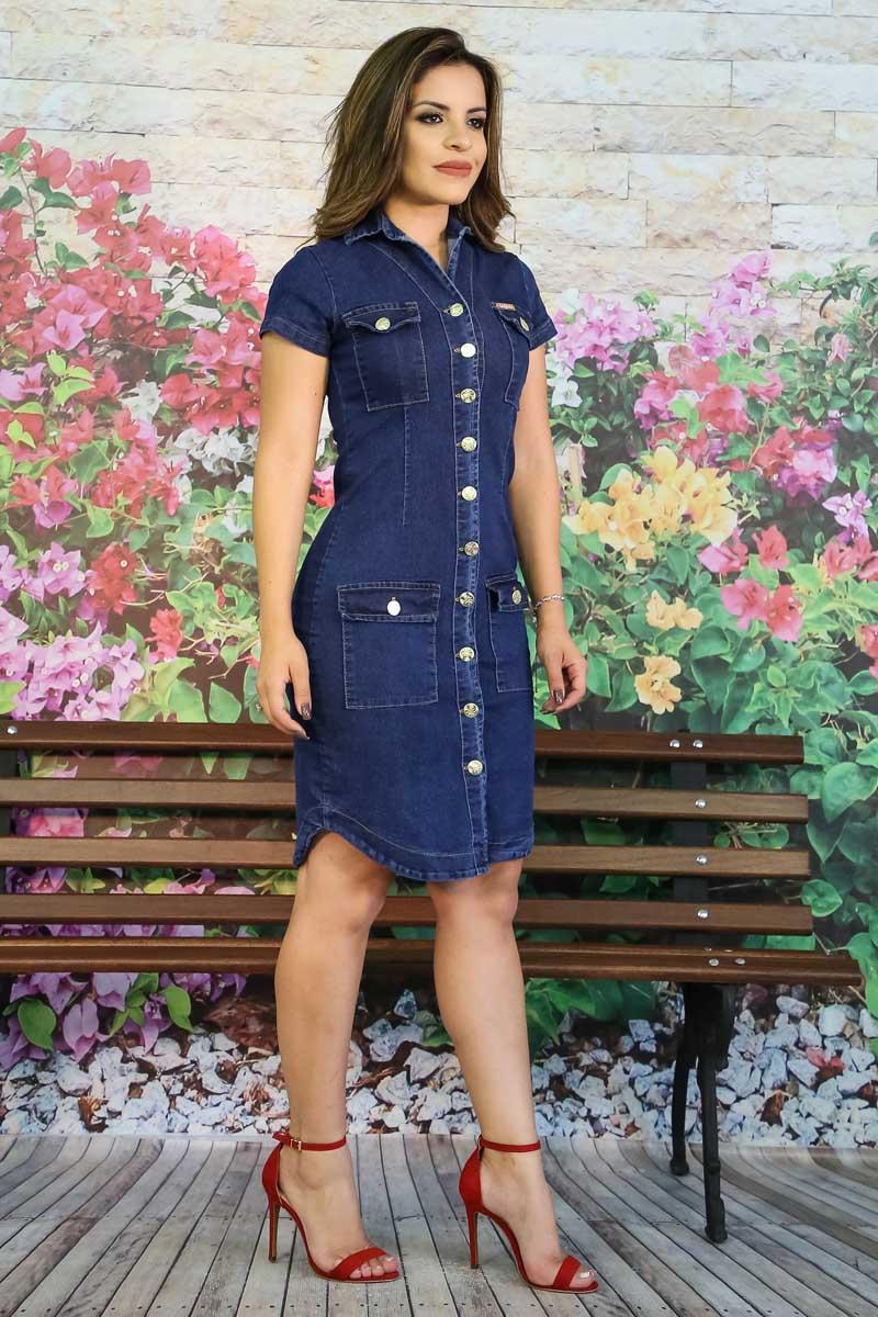 Vestido Jeans Caroline Saia Bella - SB5611