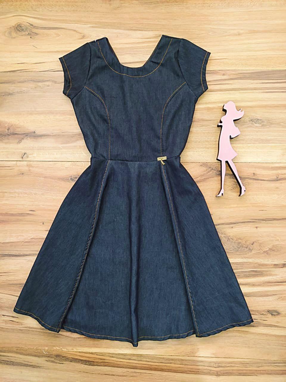 Vestido Jeans Dallas Saia Bella SB5603 - Chumbo