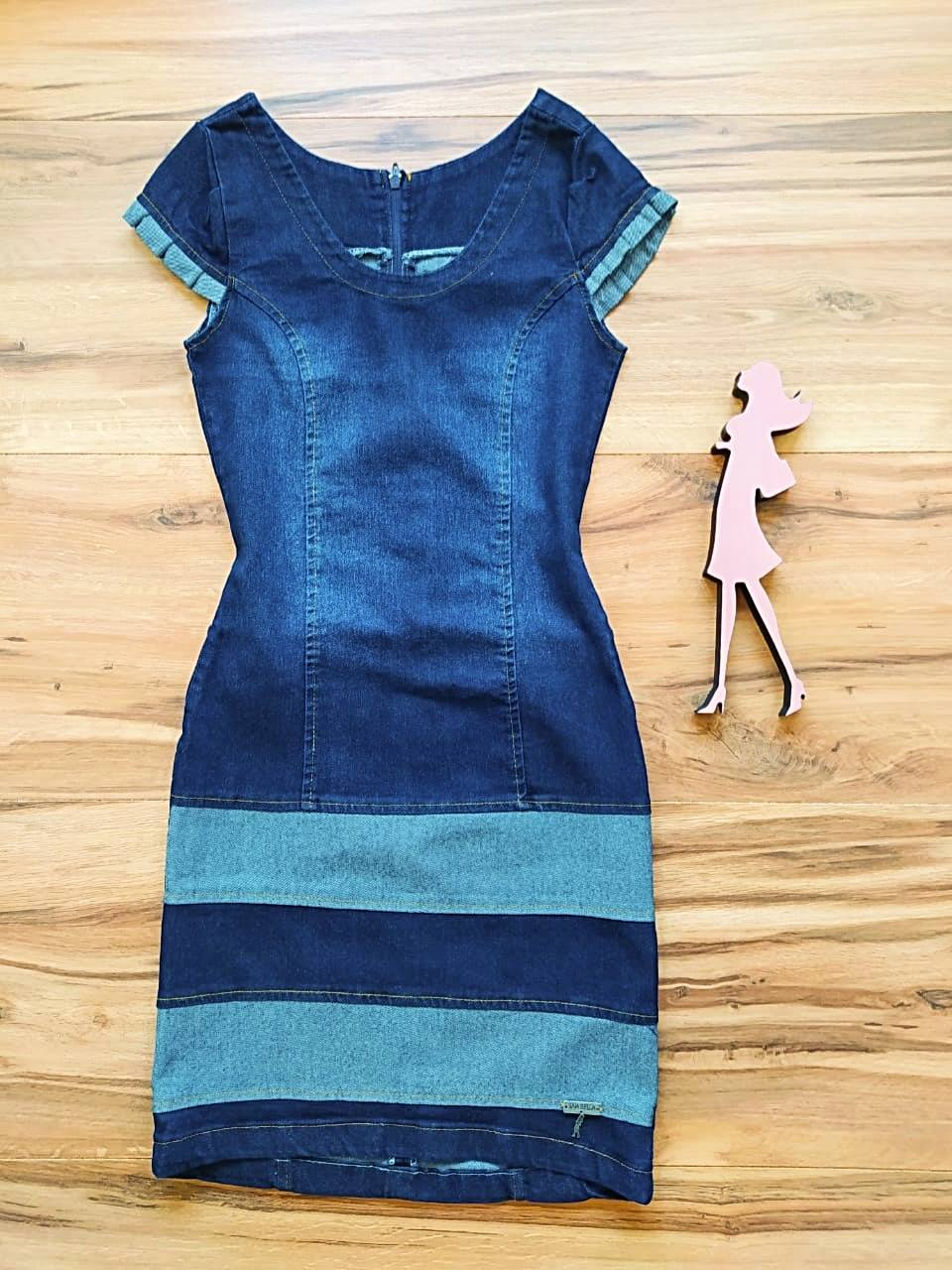 Vestido Jeans Detroit Saia Bella SB5614