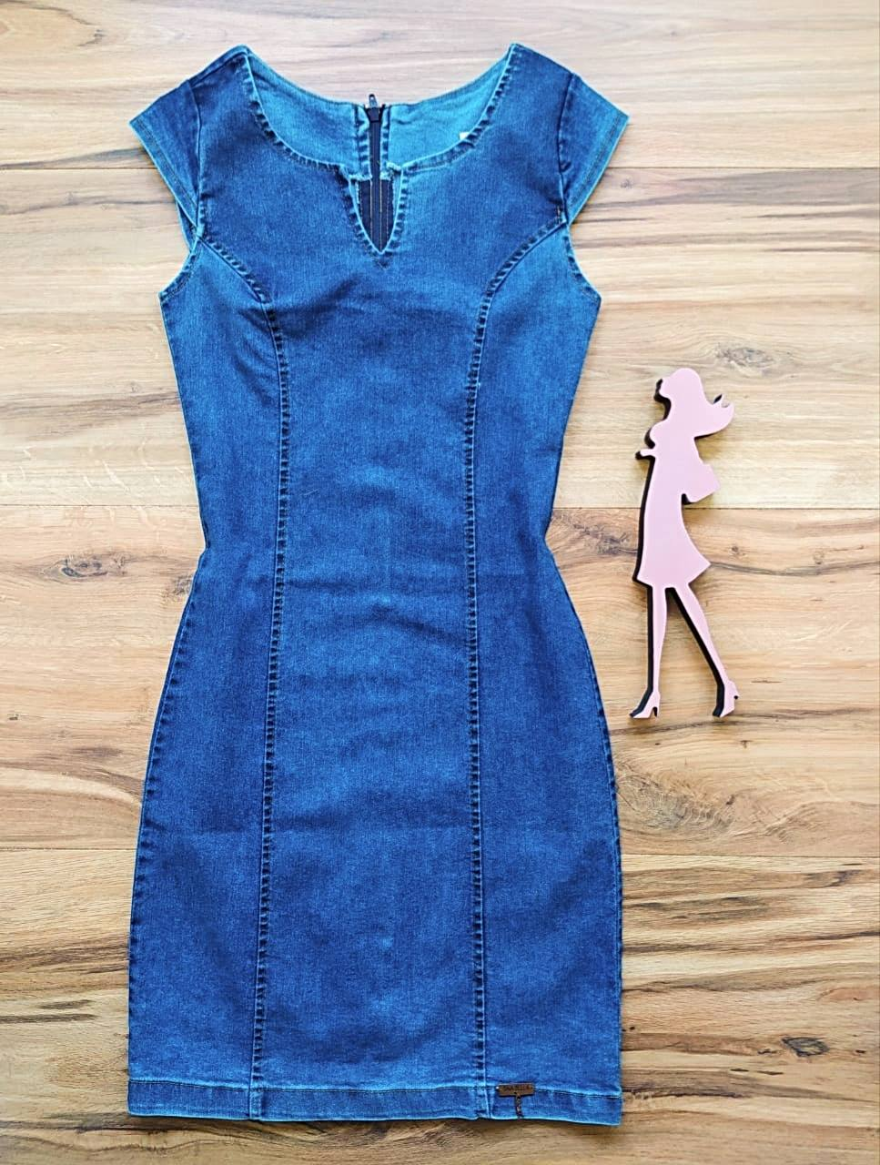 Vestido Jeans HollyWood Saia Bella SB5701