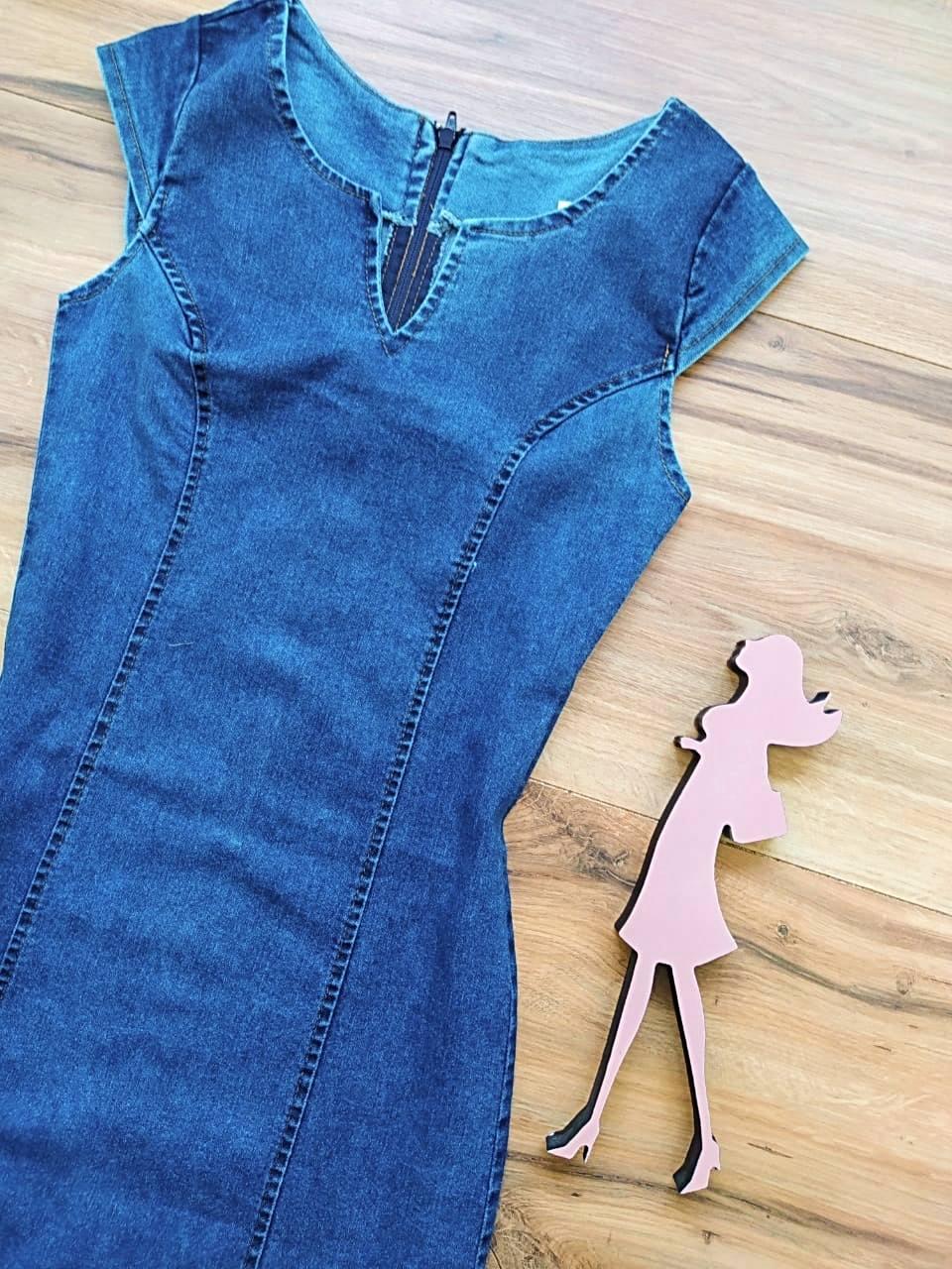 Vestido Jeans HollyWood Saia Bella SB5701