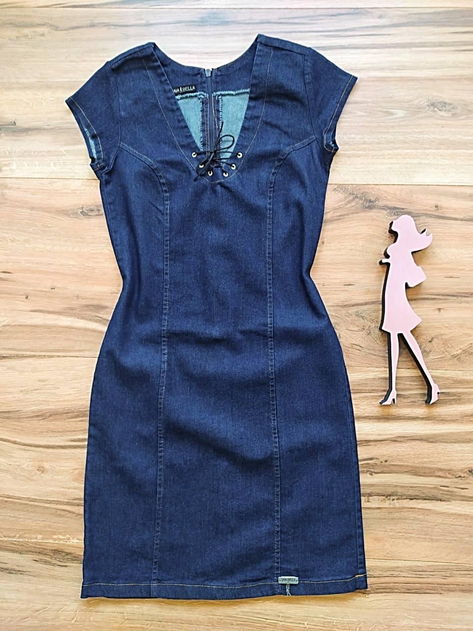 Vestido Jeans Kansas City Saia Bella SB5615