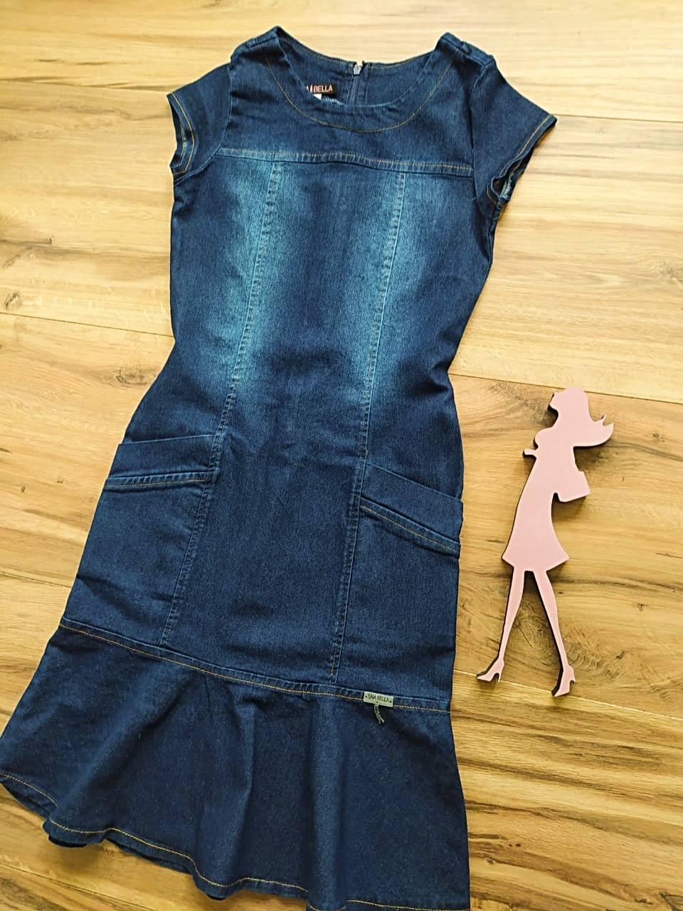Vestido Evangélico Jeans Katy Saia Bella SB5127