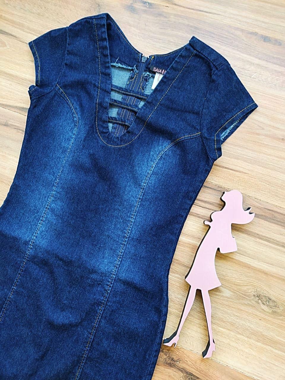 Vestido Jeans Keyla Saia Bella SB55981