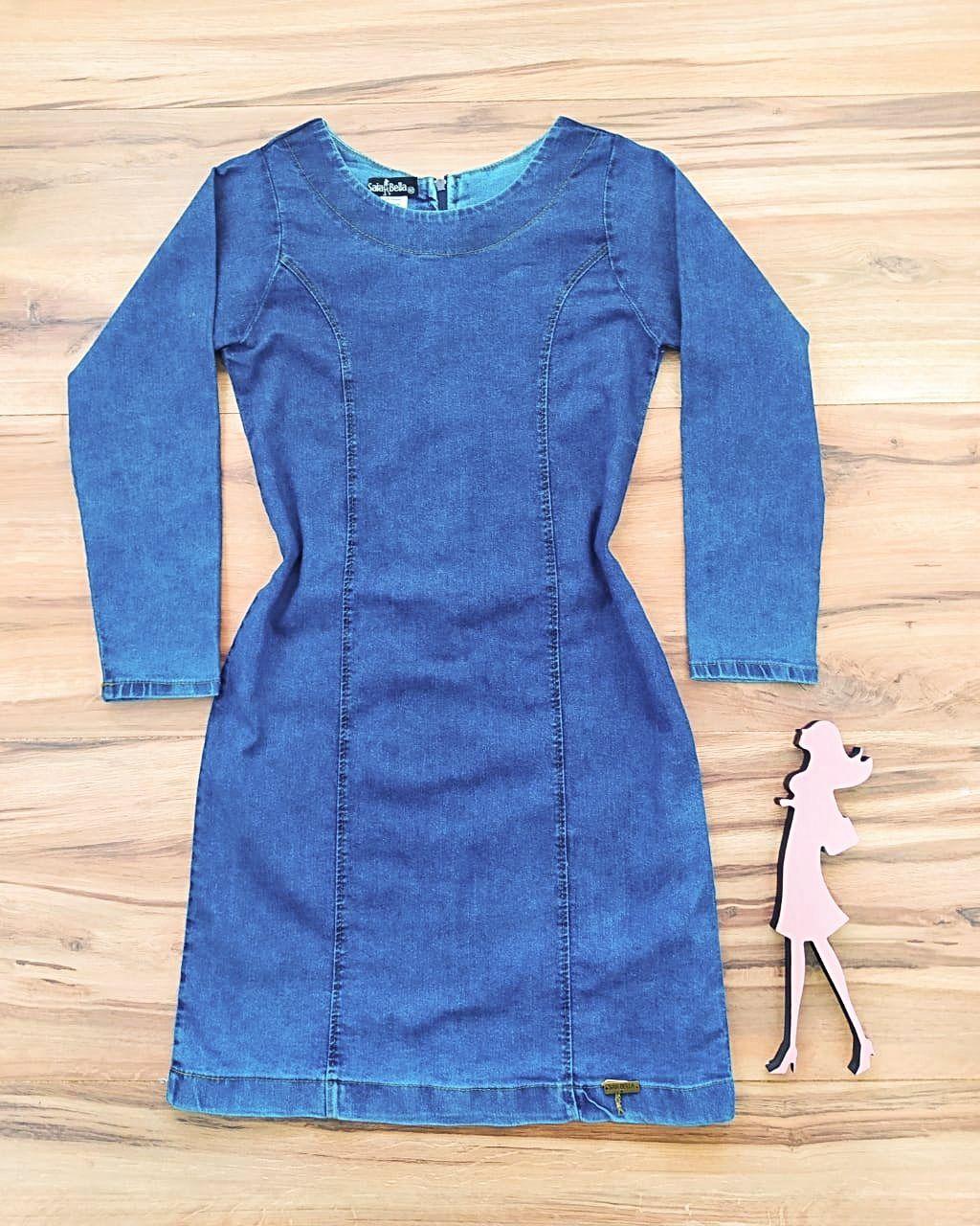 Vestido Jeans Mineápolis Saia Bella SB568