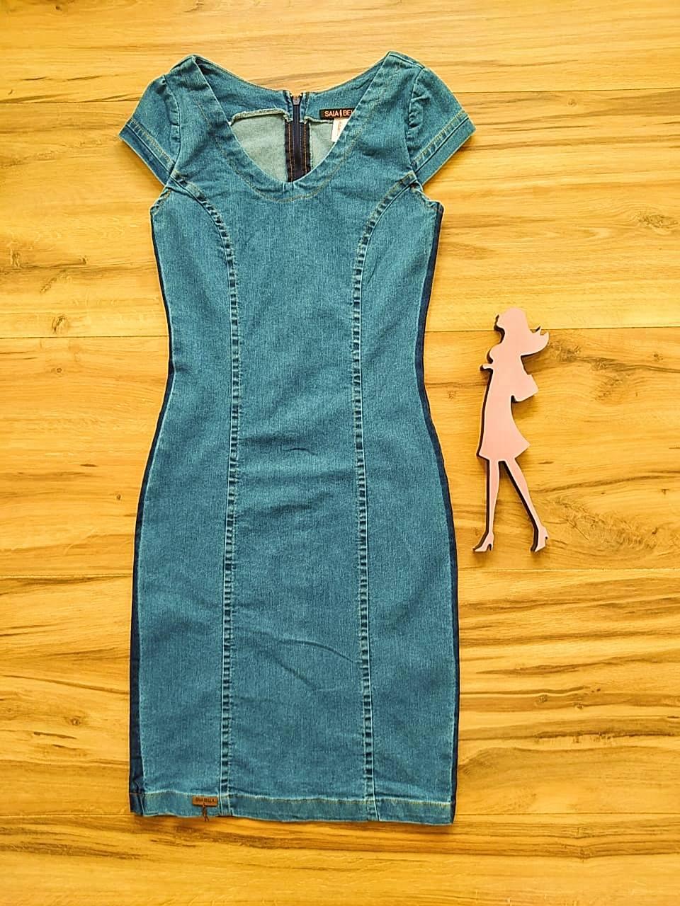 Vestido Jeans Montreal  Saia Bella SB75104