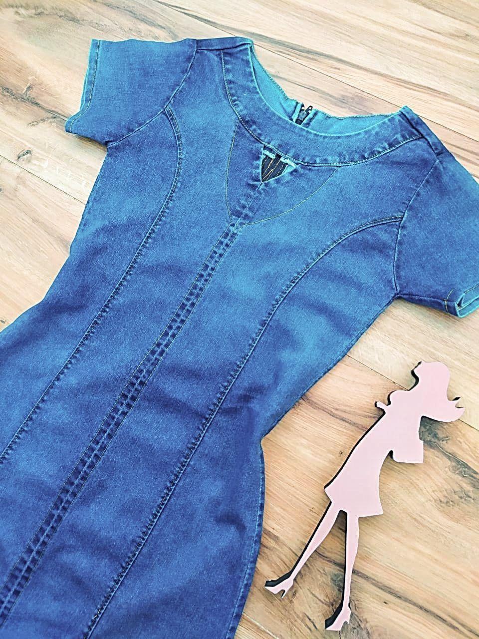 Vestido Jeans Oregon  Saia Bella SB5607